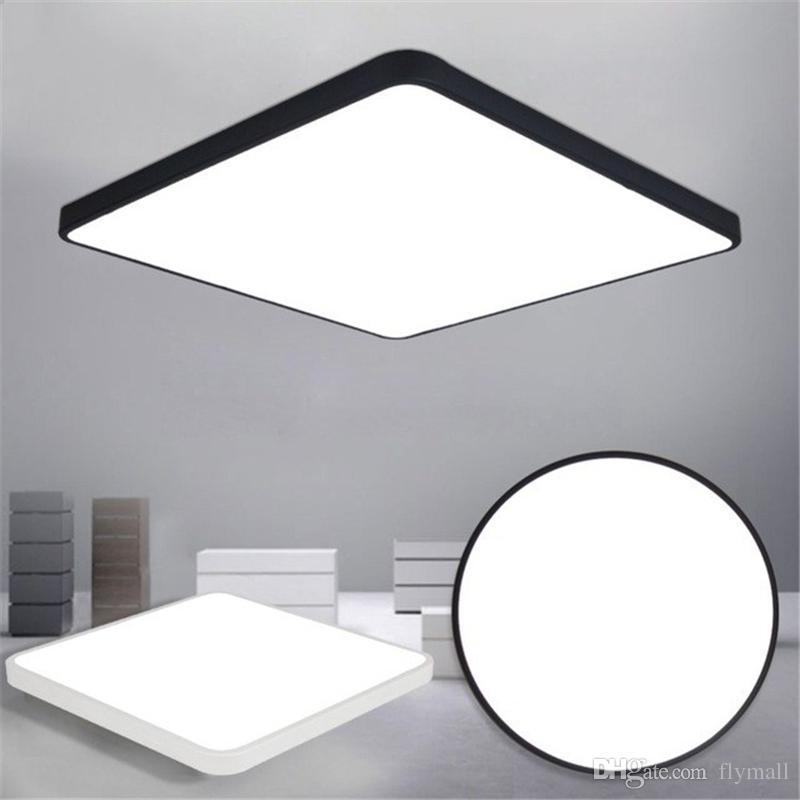 LED Plafoniera Moderna Lampada Soggiorno Apparecchio di illuminazione  Camera da letto Cucina Surface Mount Flush Pannello LED ultrasottile Light  Black ...