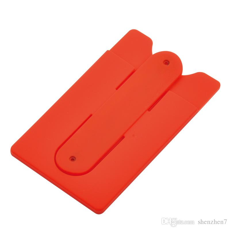 Heißer verkauf mode aufkleber rückseitige abdeckung kreditkarteninhaber fall beutel für handy bunte karteninhaber sty010