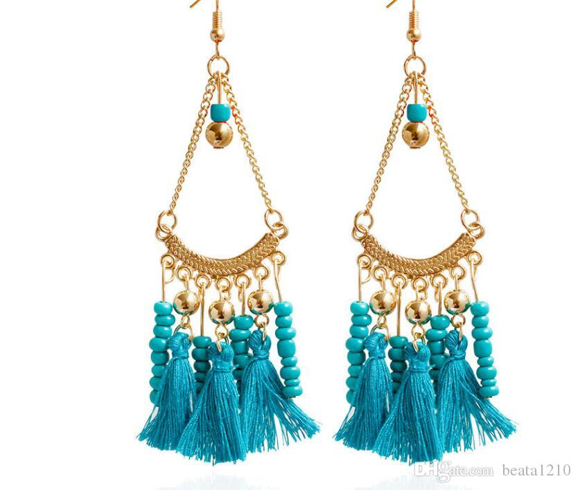 Dangle Earrings with Stones 2018 Korean Fashion Long Earring Costume Jewelry Stores Pearl Earrings for Girls Dangle Mix Gift Ideas