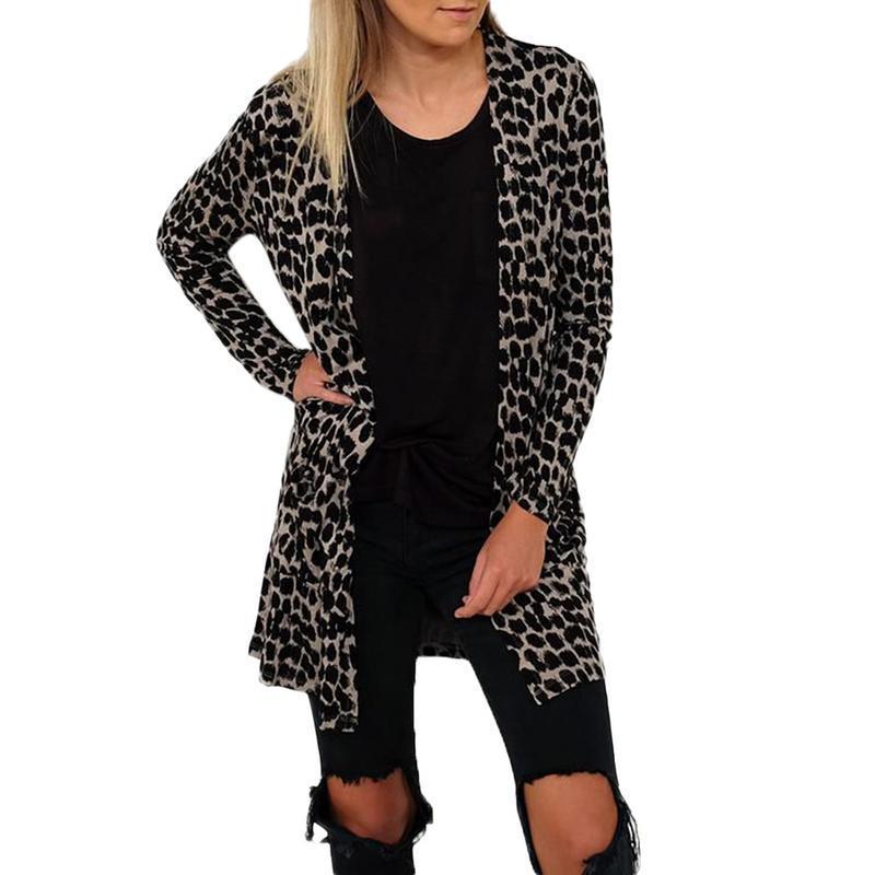 promo code 1ebd1 dec48 Cardigan donna manica lunga nuova femmina elegante tasca a maglia tuta  sportiva maglione giacca cardigan di alta qualità