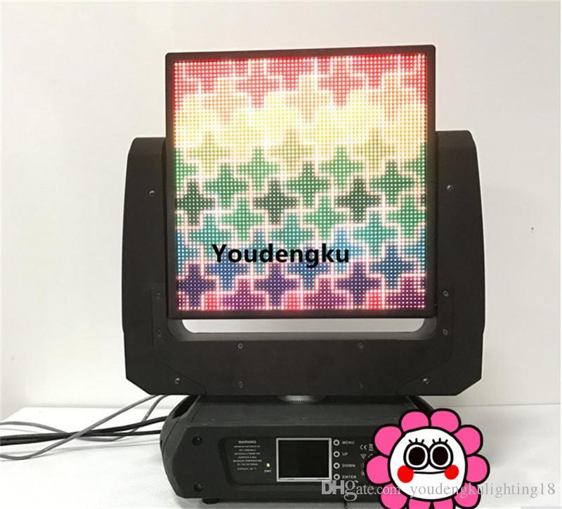 2 pièces Pro Stage Disco DJ RVB Full Color P5 64x64 Pixel Dot Matrix Module D'affichage à LED Écran Tête Mobile Panneau Vidéo