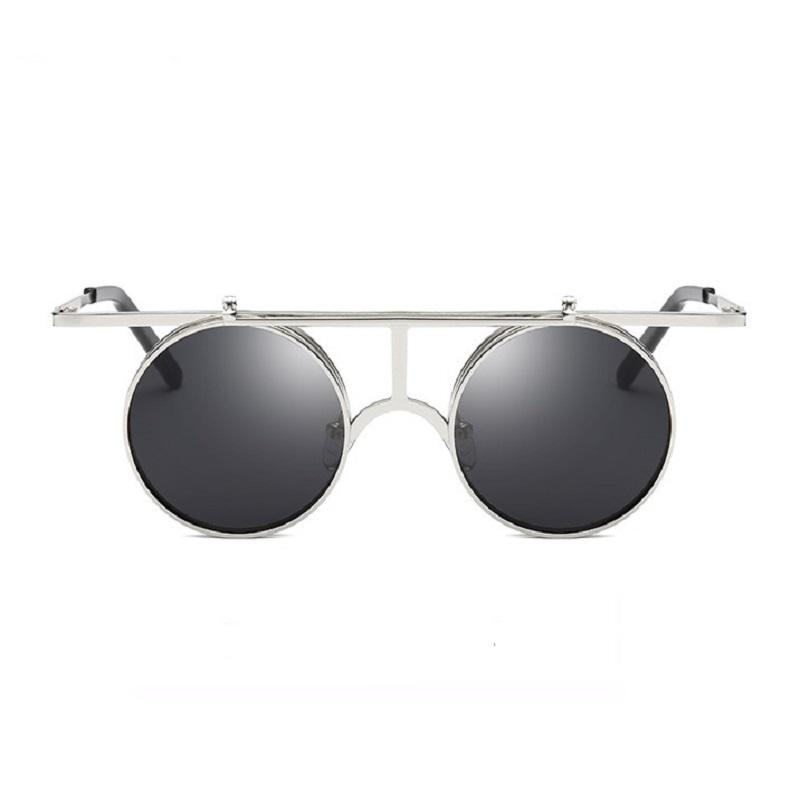 0659b0f819 Compre Flip Up Gafas De Sol Polarizadas Clásico Steampunk Hombres Mujeres  Gafas De Sol Diseñador De La Marca De Metal Vintage Glasses UV400 Barato Al  Por ...