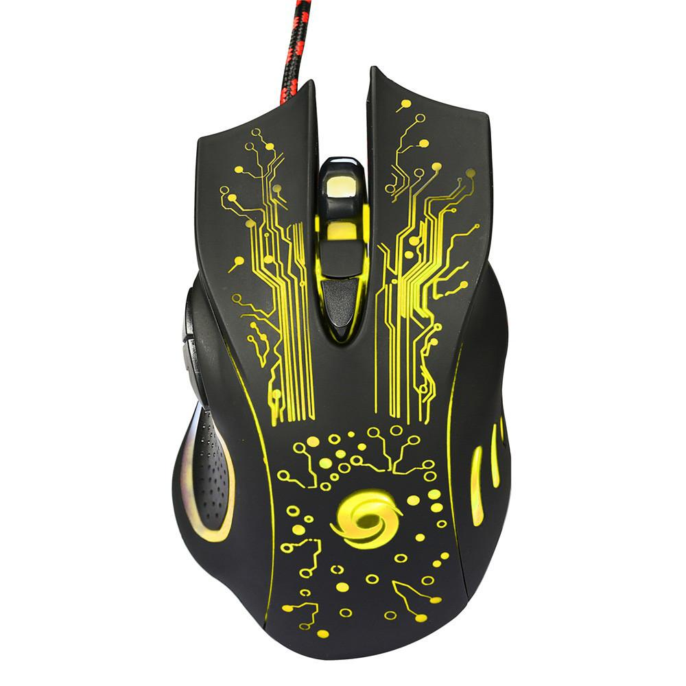 Coole Gaming Mouse Usb Wired 3200 Dpi 6 Tasten Led Optische Professionelle Maus Gamer Mäuse