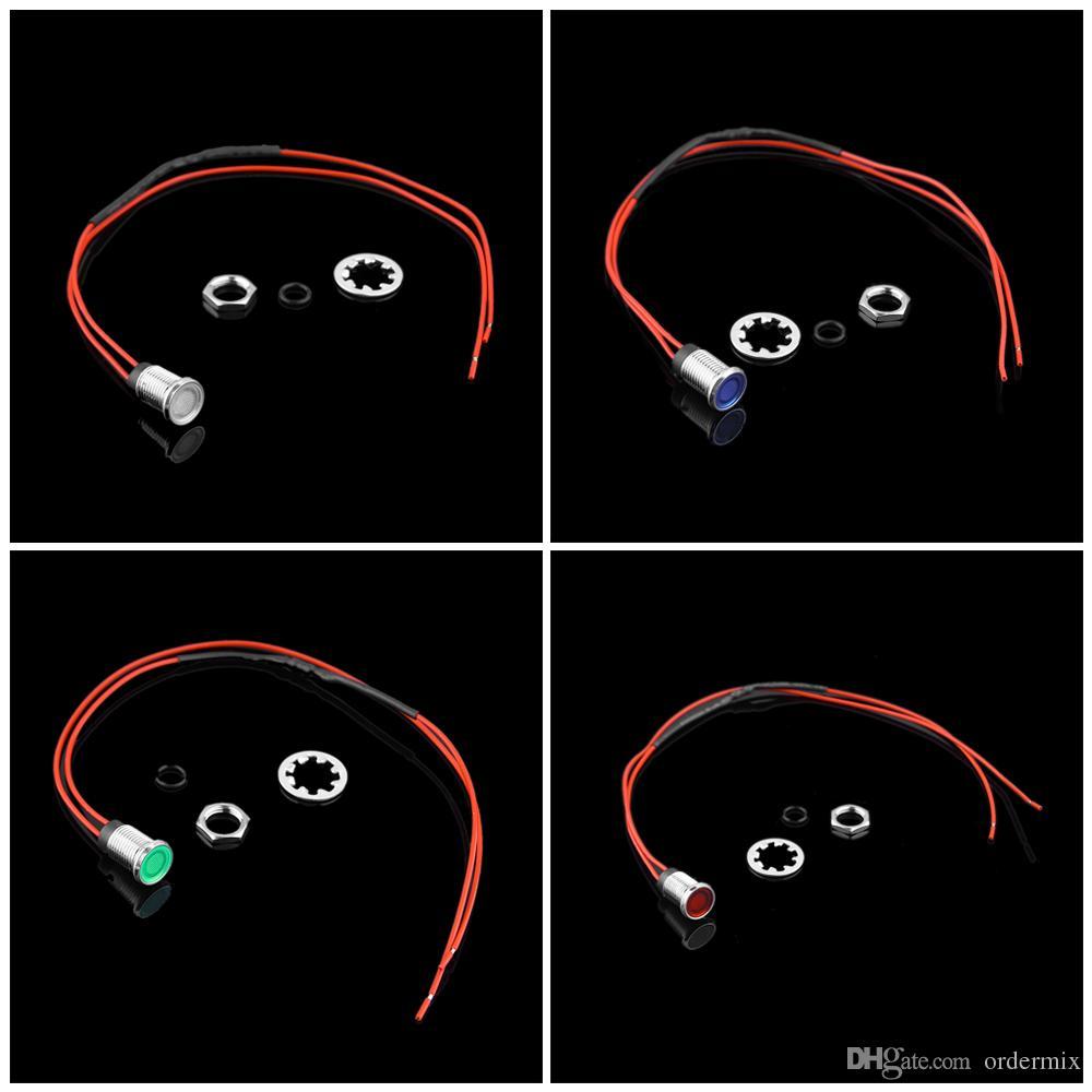 8mm 12V LED Auto Fahrzeug Armaturenbrett Pilot Indikator Instrument Licht Signal Lampe