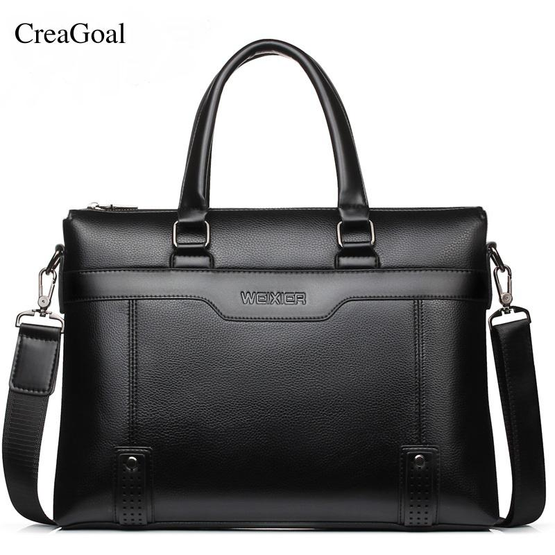 ffb53f673 2018 Fashion Brand Business Men Briefcases Bag PU Leather Handbag Laptop  Bag Casual Vintage Man Shoulder Bags Bolsa Maleta Briefcases Cheap  Briefcases 2018 ...