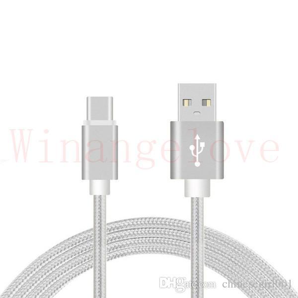 Micro usb cable tejido tipo trenzado c 1m cable de nylon para samsung s7 s8 edge xiaomi letv teléfono android S6 S7 s8 edge