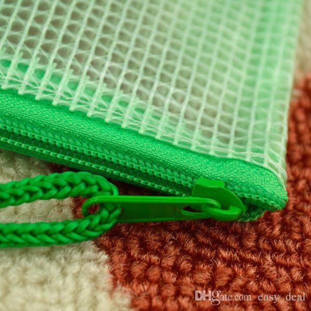 А3/А4/А5/А6/В4/В5/В6 сетки прозрачный мешок документа застежки-молнии PVC мешок канцелярские подача продукты мешок LZ1887
