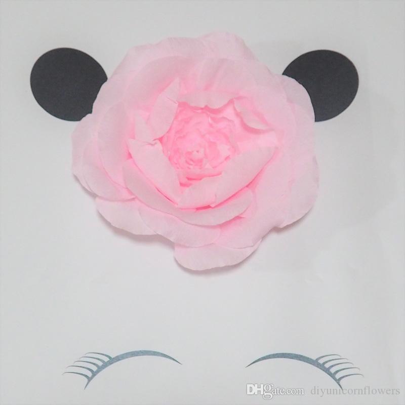 Kedi Dev Krep Kağıt Çiçekler Için Kedi Tema Parti Doğum Günü Tatlı Masa Dekor Bebek Kreş Duş Zemin MTC005 30 CM