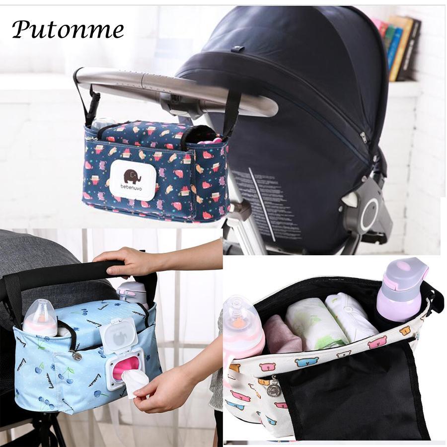 Großhandel Baby Bag Mummy Wickeltasche Haken Kinderwagen Hängen