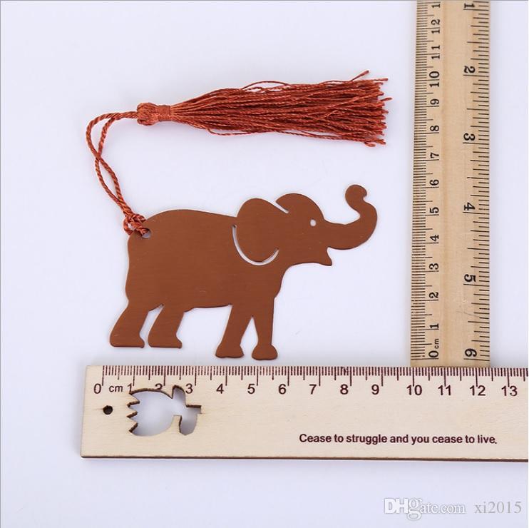 Püskül hediye kutusu ile metal şanslı fil bookmark düğün hediyeleri, bebek duşlar hediyelik eşya wen5830