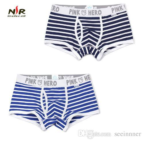 a49ed63604 Pink Heroes Hot Men Underwear Boxers Striped Cotton Men Boxer Underwear  Sexy Gay Men Shorts Boxer Cheap Panties Men s Underwear Men s Boxer Men s  Brief ...