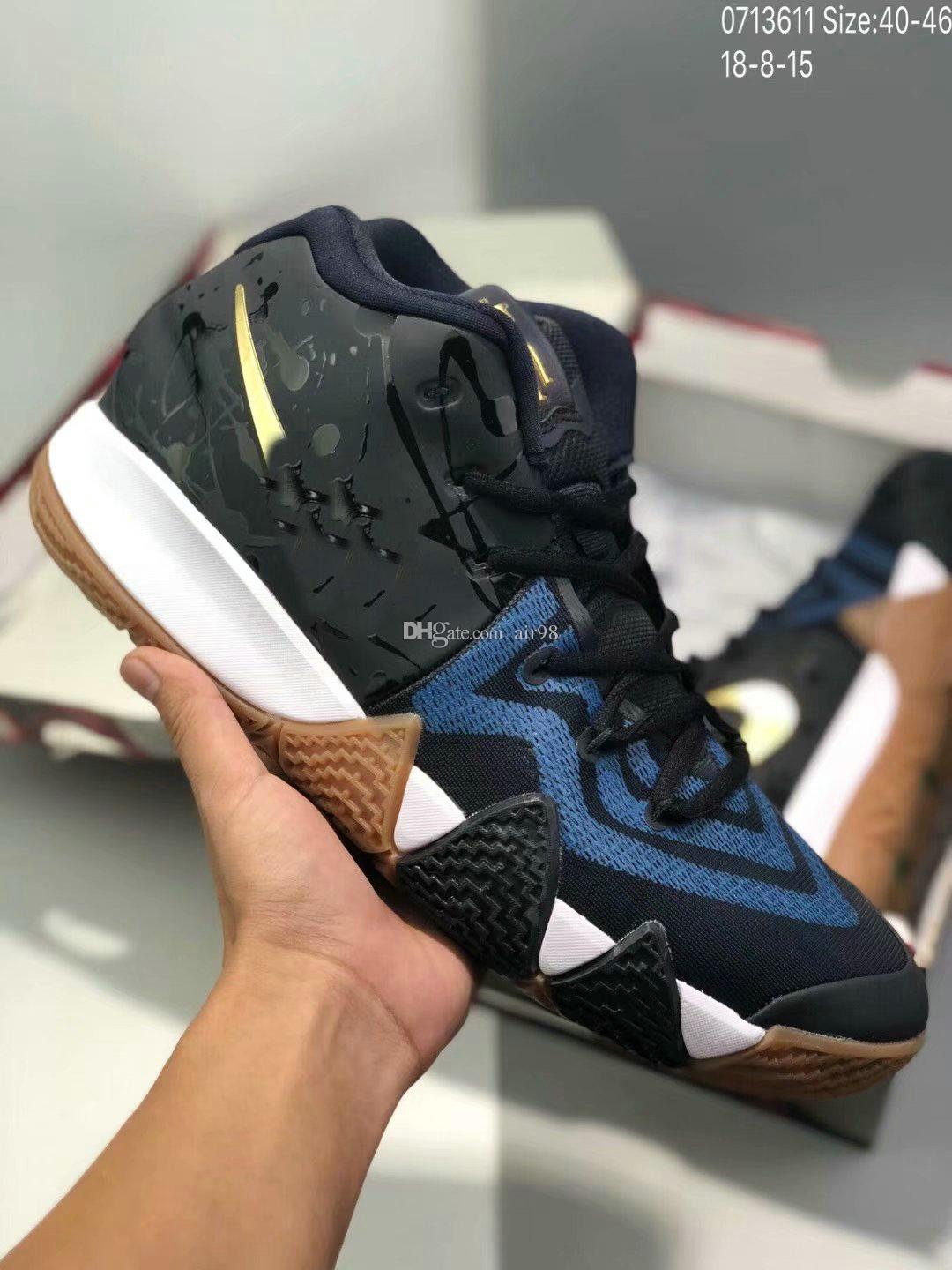 71f47bb6280 Kyrie IV 4 Confetti Men Sneakers High Ankle Irving 4s Basketball Zoom  Championship Finals Sports Training Shoes Designer Shoes Sneakers For Women  From Air98 ...