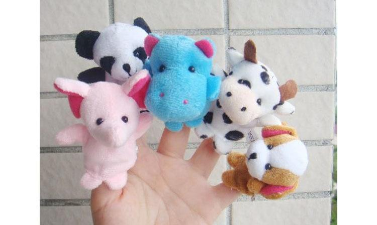 Velvet Finger Animal Puppet Play Learn Story Toy Hot sale Cartoon Animal Finger Puppet Plush Toys Children Favor Dolls