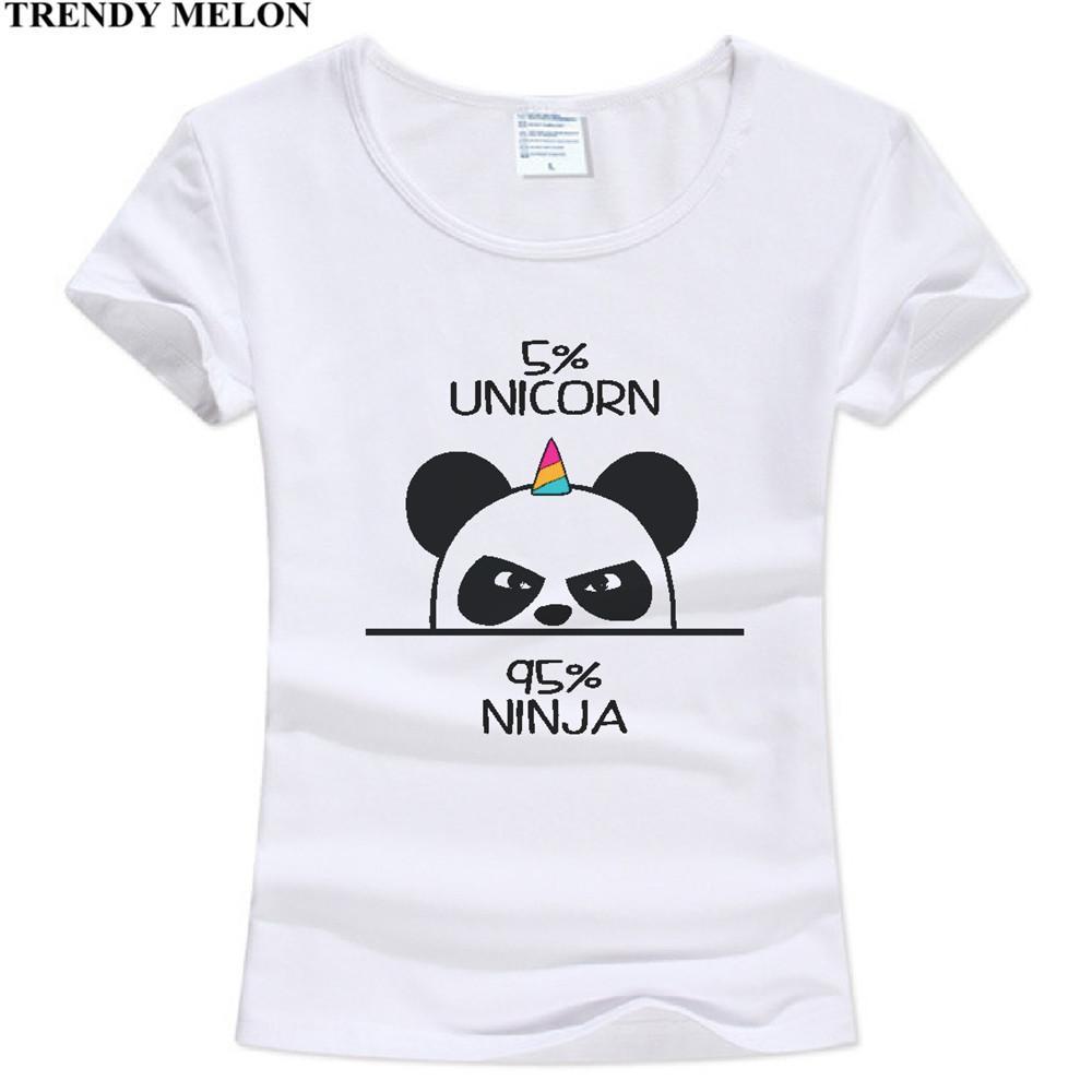 Trendy Melon Novelty Cool T shirt Women Unicorn Ninja Panda Funny Tshirt  Cotton Tops Short Sleeve Tees Hipster WAA08