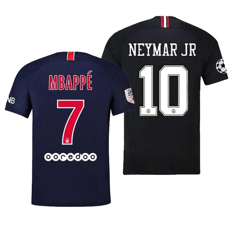 finest selection 7bc41 6eb3b 18 19 MBAPPE Soccer Jersey Men psg Home Away Football Shirt uniforms CAVANI  VERRATTI Maillot de foot Champions League Black Jerseys