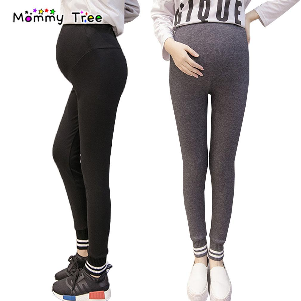d03beeae1b6290 High Waist Thread Stripe Stitching Maternity Legging Leggings Pants ...