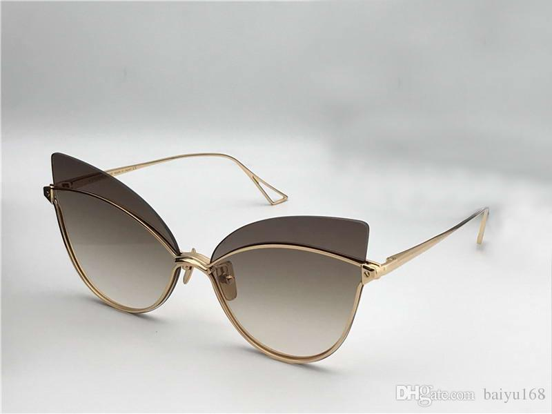 b5c0cd6351092 Womens Night Bird One Gold Cat Eye Sunglasses Gold Brown Shaded  Sonnenbrille Luxury Designer Sunglasses Glasses Shades With Box  Prescription Glasses Online ...