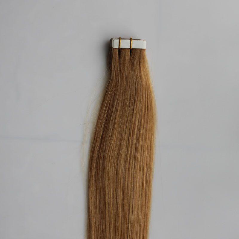 100g Band In Menschenhaarverlängerungen Gerade 40 stücke Brasilianisches Reines Haar Honig Blonde Band In Menschliches Haar