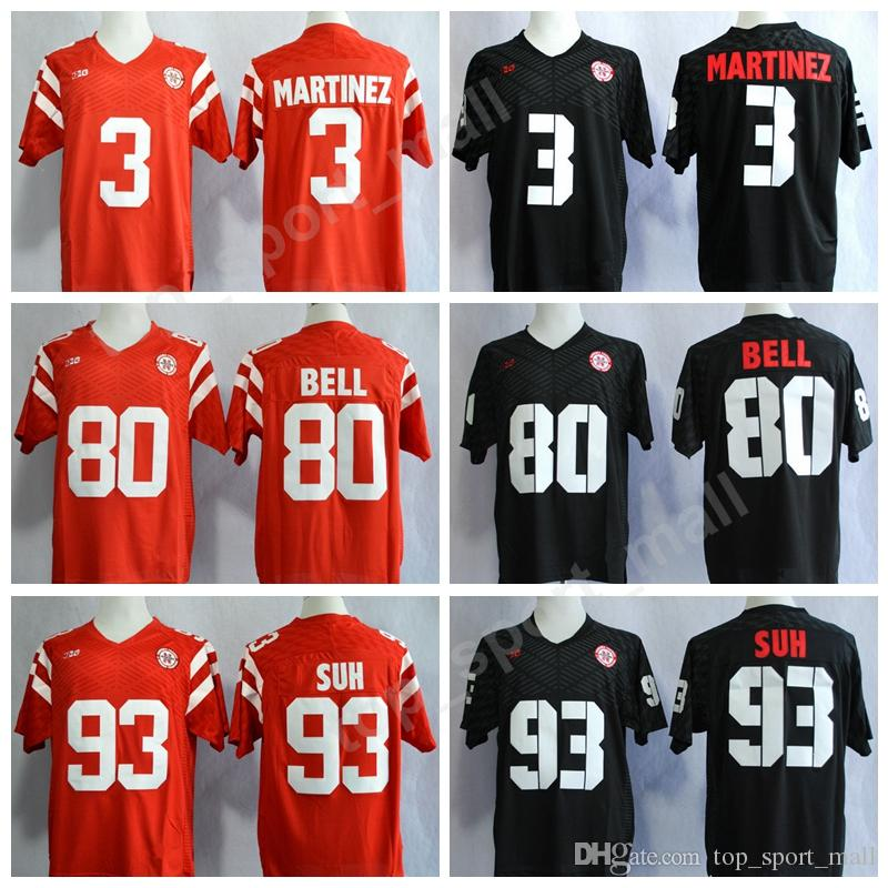 ae02b9dcb 2019 Nebraska Huskers College 93 Ndamukong Suh Jersey Men Red Black 3  Taylor Martinez 80 Kenny Bell Cornhuskers Football Jerseys Stitched Big Ten  From ...