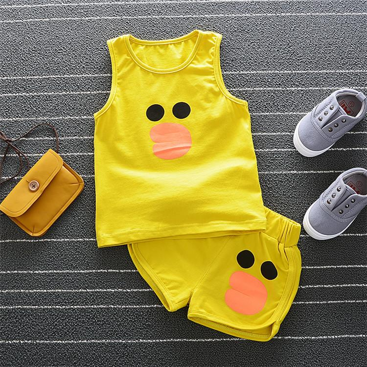 f7214321f483 2019 Fashion Children Boys Girls Summer Clothing Suits Baby Vest Shorts  Kids Embroidery Star Clothes Toddler Tracksuits From Xiaobo198638
