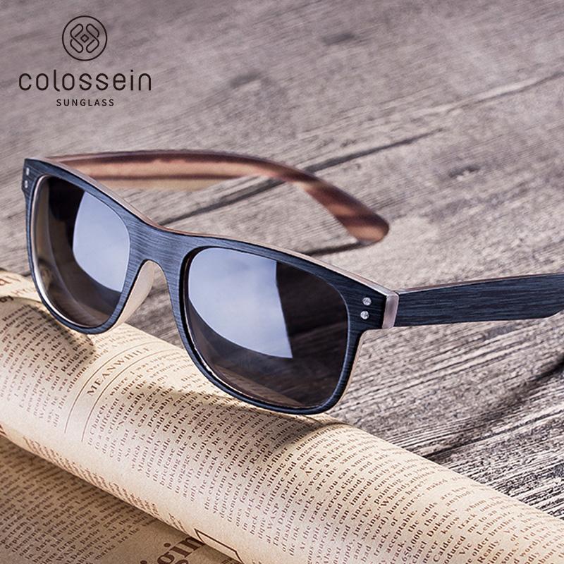 5b184498b5 COLOSSEIN Sunglasses Men Polarized Classic New Fashion Retro Square Sun  Glasses Frame Women Imitation Wood Oculos Gafas De Sol Boots Sunglasses  Tifosi ...