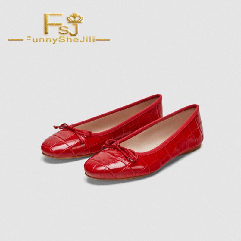 624ef29b962 Acheter Rouge Confortable Appartements Plat Toe Chaussures D école Avec Arc  Papillon Noeud Femmes Chaussures Attrayant Généreux Incomparable Noble FSJ  Sexy ...