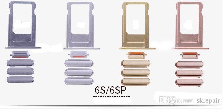 For iPhone 6 6P plus full set Power On Off Volume Button Mute Button SIM Card Tray Holder Replacement Parts