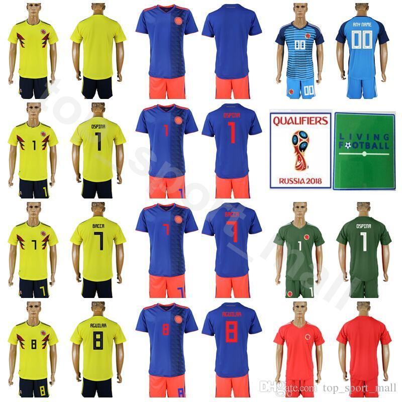 5d487cdd2 2018 World Cup Soccer 7 Carlos Bacca Colombia Jersey Set 8 Abel ...