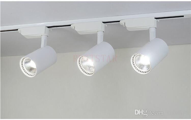 Hochwertiges 20W Warm Natur kalte weiße LED COB Schienenlicht 30W Weiß Schwarz Shell Led Wandleuchten AC85 ~ 265V