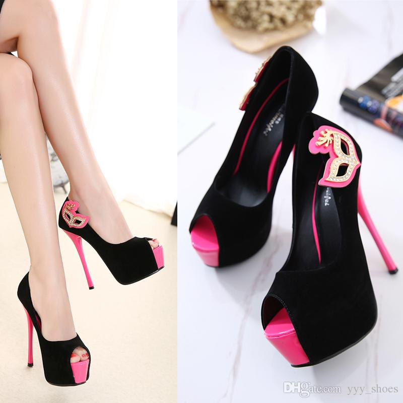 083dde845f12c Night Club Sandals Prom Banquet Party Sexy Womens Peep Toes Shoes ...