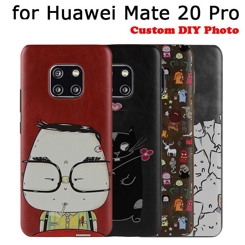 Housse Smartphone Couverture Personnalisée Pour Huawei Mate 20 Pro Case PU  Étuis En Cuir Pour Huawei Mate 20pro Téléphone Retour Slim Skin Imprimer  Coque ... f160b2468c0
