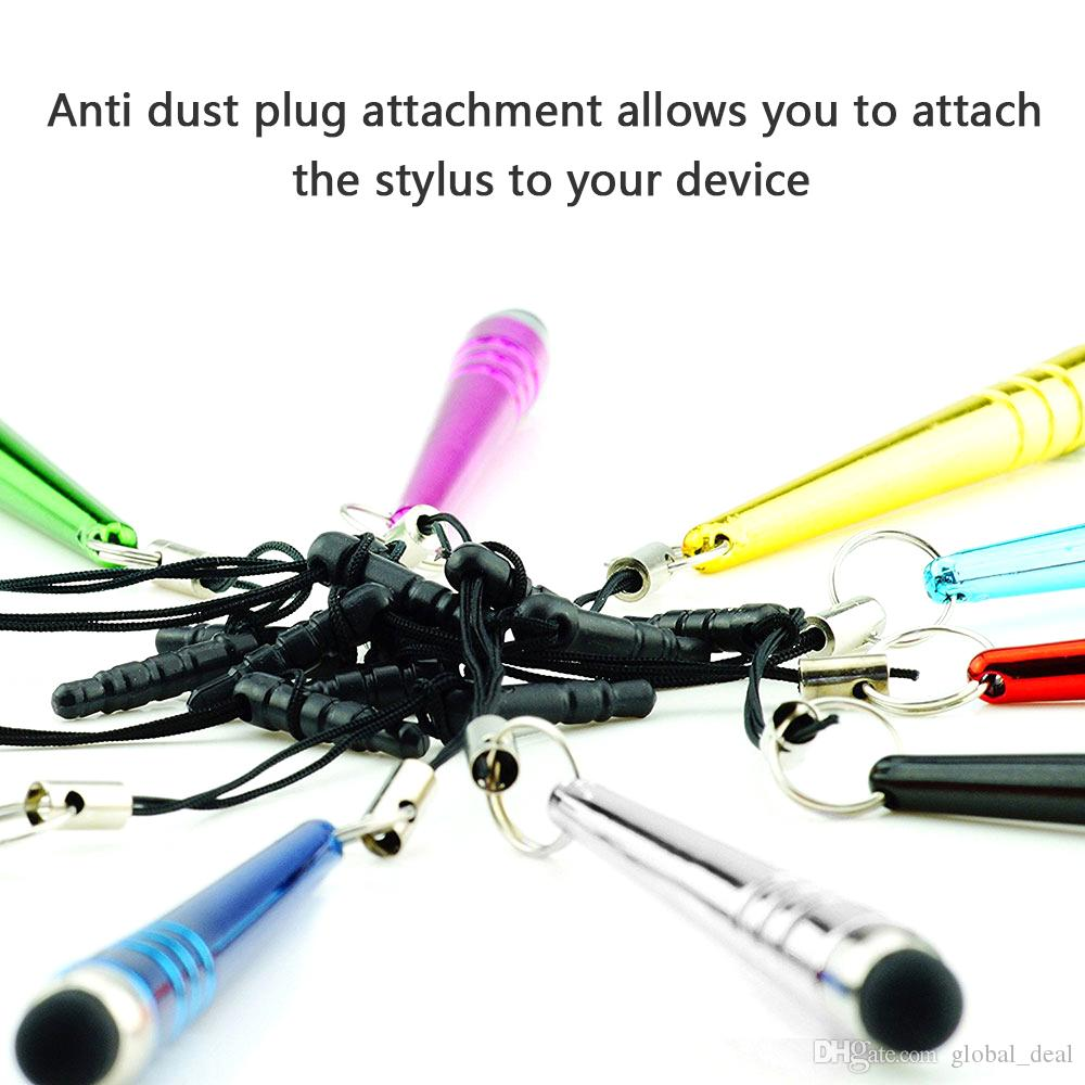 Baseball bar stylus Capacitive Stylus touch Pen Dust cap for iphone 4 5 6 7 8 ipad 3.5mm plug mobile phone