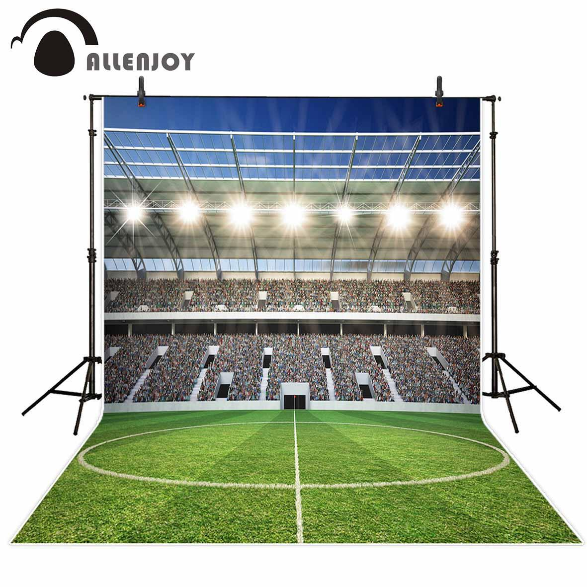 2018 allenjoy photography backdrop football field sports glitter
