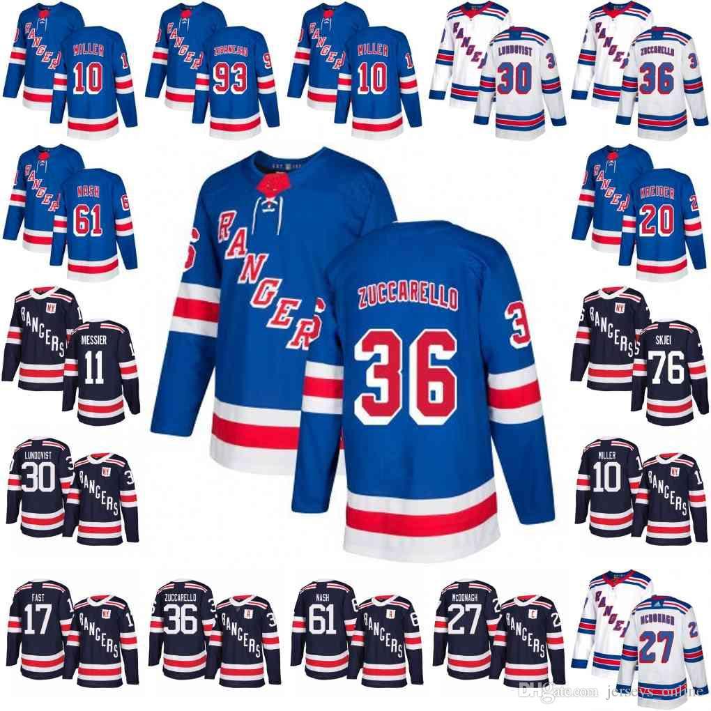 457b6a4ee 2018 New York Rangers 36 Mats Zuccarello 30 Henrik Lundqvist Jersey ...