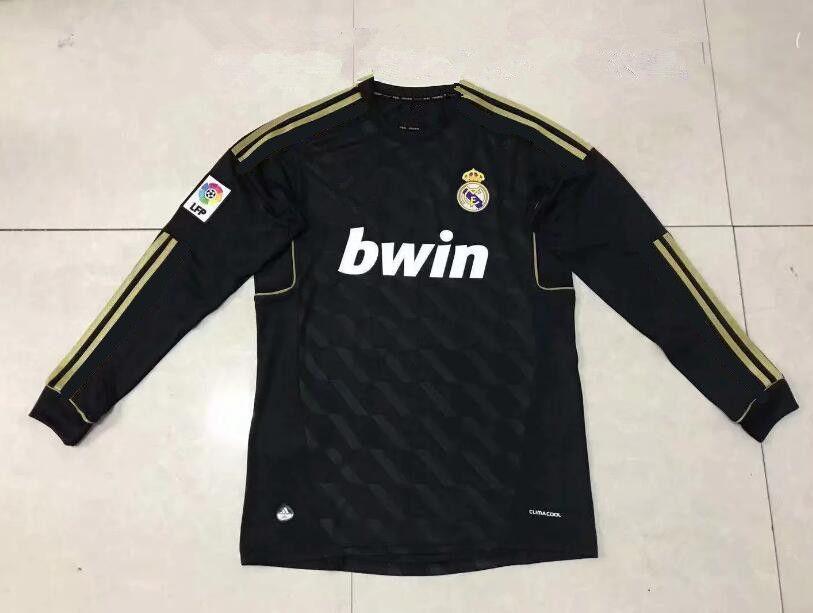 low priced c8e7c 1e22d Retro 2011 2012 Real Madrid Home Soccer Jersey Sergio Ramos KAKA HIGUAIN  RONALDO ZIDANE Beckham 2005 /06 RAUL Robinho Long sleeve