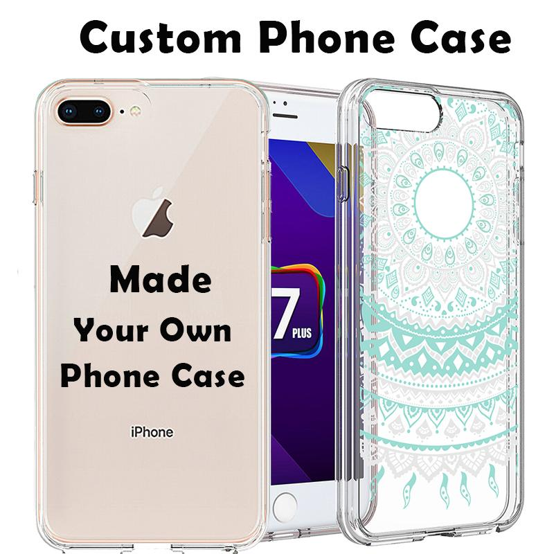 pretty nice fa98d 72676 Custom Own Phone Case DIY Print Personalised Design Create Acrylic Hard  Cover Soft Bumper Transparent Customize for iPhone X 8 7 Plus