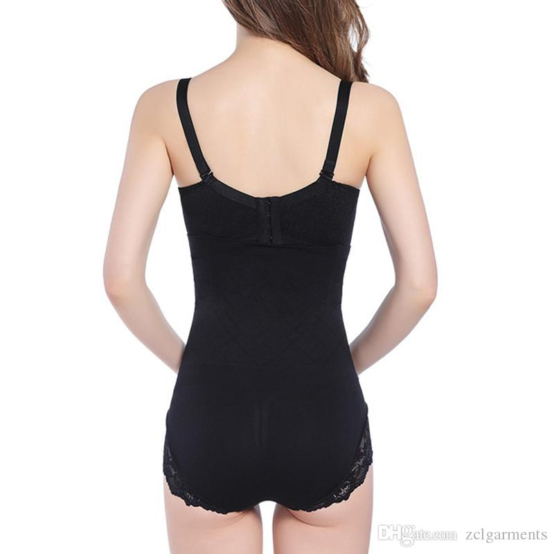 Hot body Shaper postpartum Control Panties Lace strap waist trainer corset slimming Belt bodysuit women Black corrective underwear