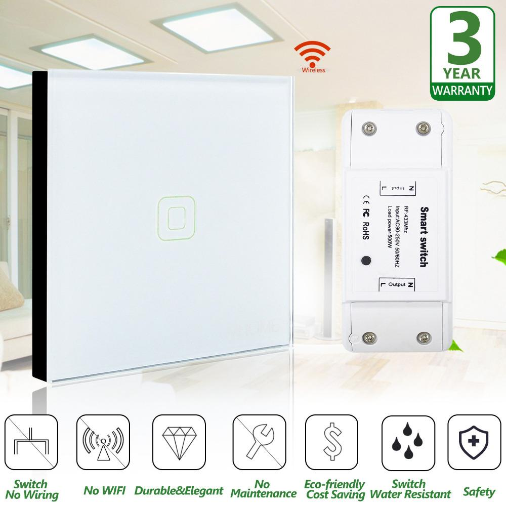 Original Vhome Wireless Remote Control Wall Switch Transmitter With Electric Relay Cost 85v 250v 433mhz Receiversmart House For Led Lighting Tv Remotes Controller