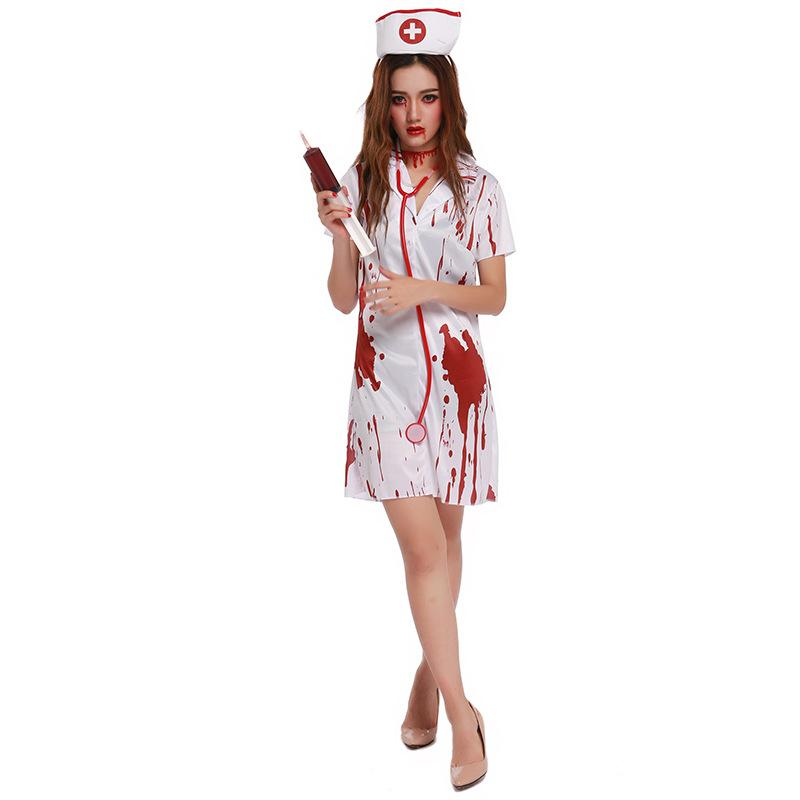 New Halloween Nurse Costume Women Female Dress Cosplay Scary Costumes 88664  Cheap Halloween Group Costumes Costumes For Teams From Dalivid 1ffaaafacf