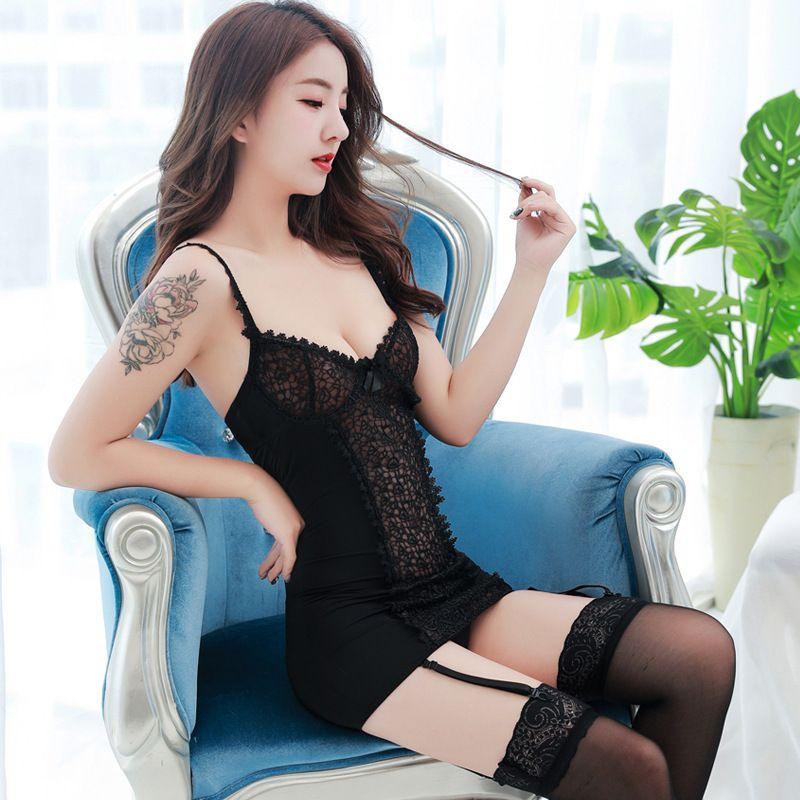 1317e3c5370 New Pattern Heat Paragraph Taste Underwear Sexy Camisole Socks Pajamas Suit  Uniform Seduction 8343 A928 Bras And Panties Garter Belt Sets From Ruiqi06