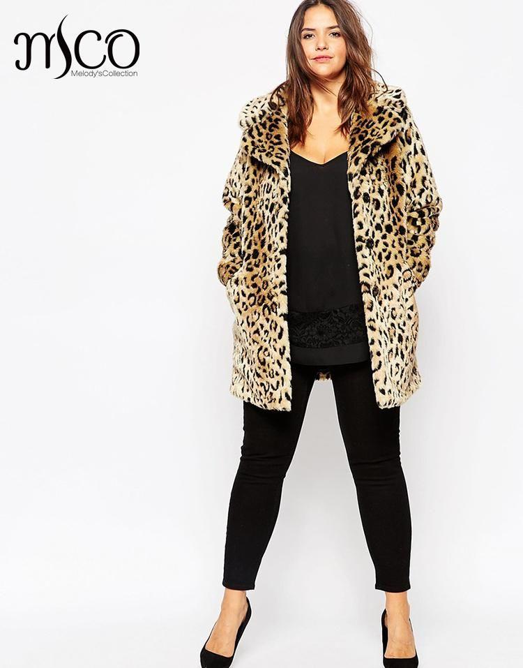 2131fcb9f9f 2019 High Quality Thick Leopard Faux Fur Coat Winter Long Fur Jacket  Oversize Warm Women Trench Coat Plus Size Casaco De Pele 7XL 8XL From Brry