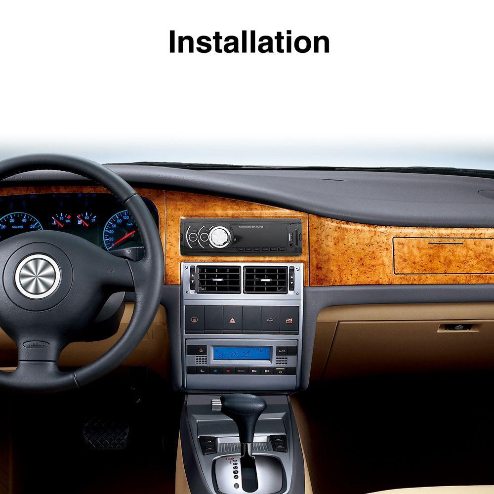 1 DIN LED Display In Dash Car Stereo Audio MP3 Radio Player FM Aux Input Receiver SD USB WMA CAU_027