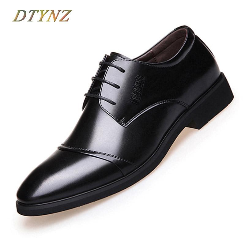 Men's Vulcanize Shoes Good Fashion High Quality Men Full Grain Leather Business Lace-up Mens Leather Shoes British S Mens Shoes Oxford Clearance Price Shoes