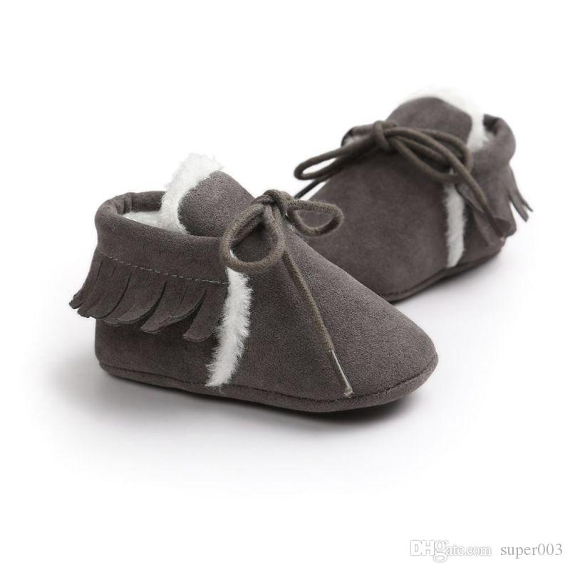 db1382d9a43 2019 Baby Boy Girl Baby Moccasins Soft Moccs Shoes Bebe Fringe Soft Soled  Non Slip Footwear Crib Shoes New PU Suede Leather Newborn From Super003
