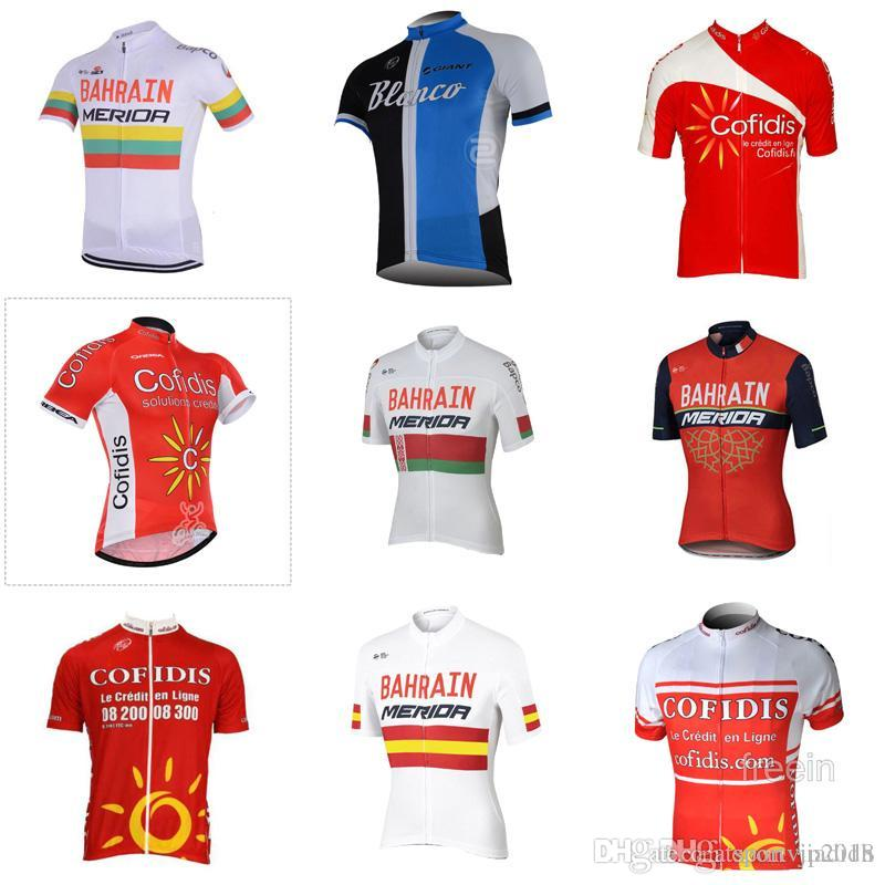 Bahrain BLANCO Team Cycling Short Sleeves Jersey 2018 Summer Riding  Short-Sleeved Shirt Bike Bike Clothes D201 Bahrain Cycling Jersey Ropa  Ciclismo Hombre ... 9dce8eb3d