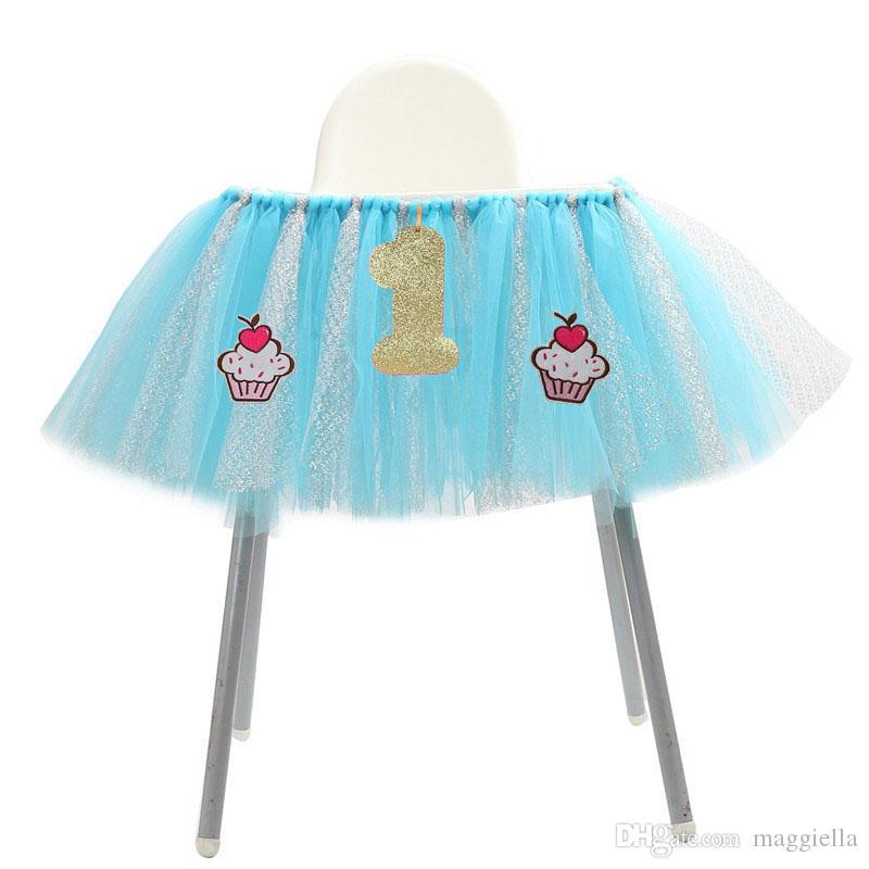 1 Glitter 1er Jupe Fête Décor Nouveau Table Douche Bébé Tutu Nappe D'anniversaire Pcs 10035 Chaise Jupes Cm Haute Tulle Né wXiOuPZTk