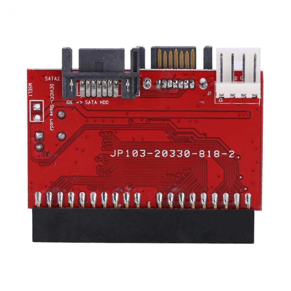 Freeshipping IDE-SATA bidirezionale Scheda convertitore CD-ROM / Hard Disk / HDD Porta IDE a 40 pin Fino a 1,5 GB Supporto ATAPI ATA / 100 IDE