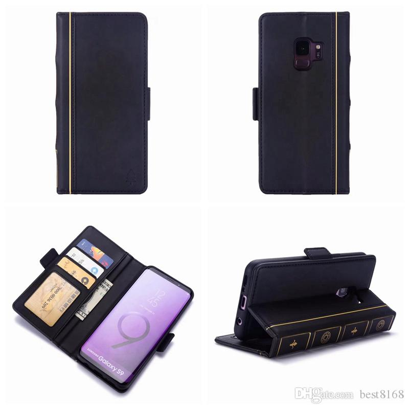 Book Style Leather Wallet Case For Iphone XR XS MAX X 10 8 7 6 5 5S SE Galaxy Note 9 S9 S8 Retro Vintage Old Magnetic Removable Flip Cover
