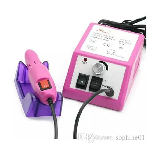 الوردي المهنية آلة الحفر مانيكير الأظافر مع لقم الحفر 110 فولت -240 فولت الاتحاد الأوروبي التوصيل سهلة الاستخدام