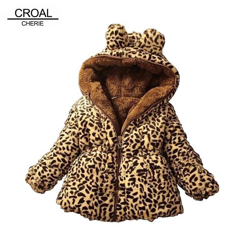 ba757102f CROAL CHERIE Warm Thicken Winter Coat For Teenage Girls Leopard ...